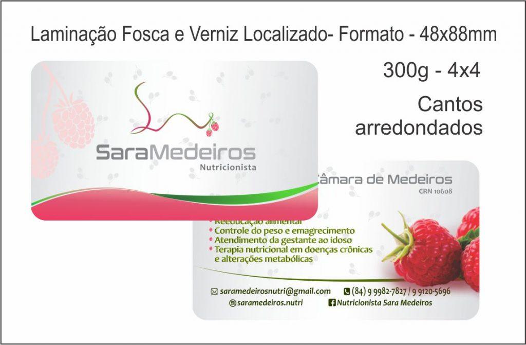 Cartão de visitas de nutricionista